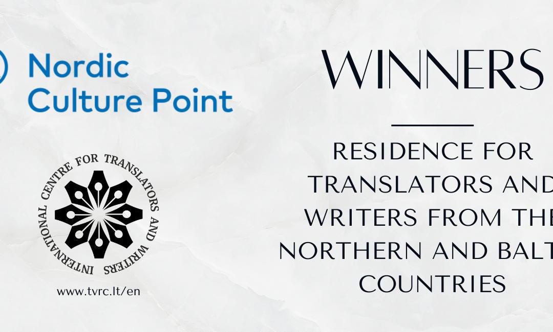 """Stipendijos konkurso """"Artist Residencies"""" nugalėtojai iš Islandijos ir Estijos"""